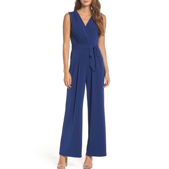 85ae34cc2c98 NWT Vince Camuto Faux Wrap Jersey Jumpsuit Large